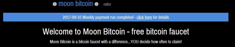 Moon-Bitcoin-Faucet